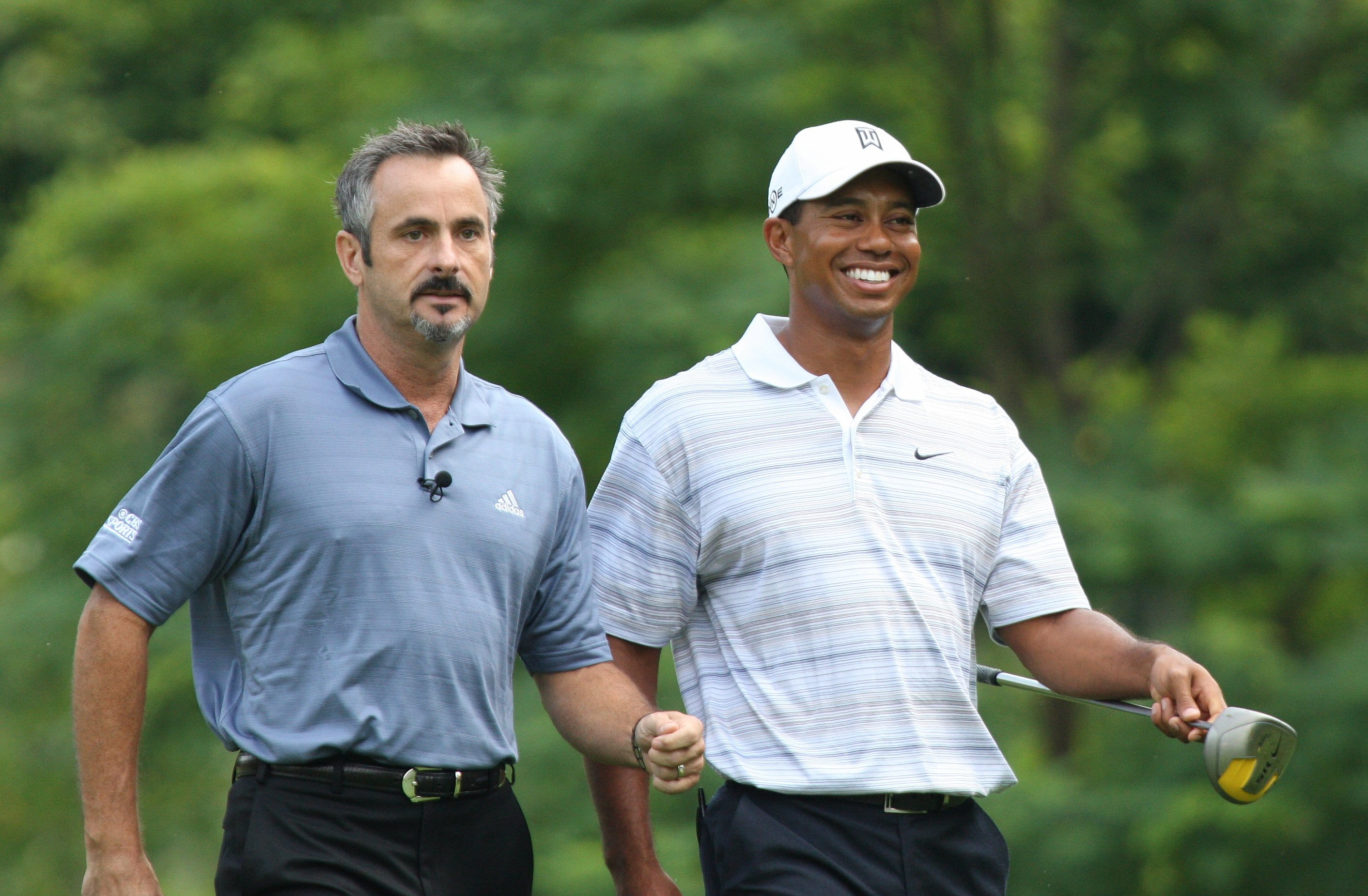 David Feherty and Tiger Woods