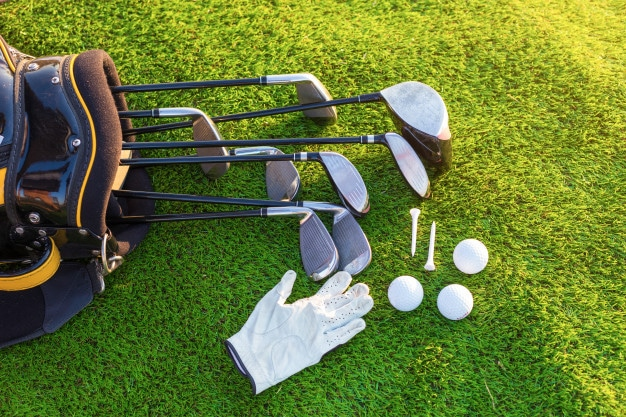 equipment playing golf